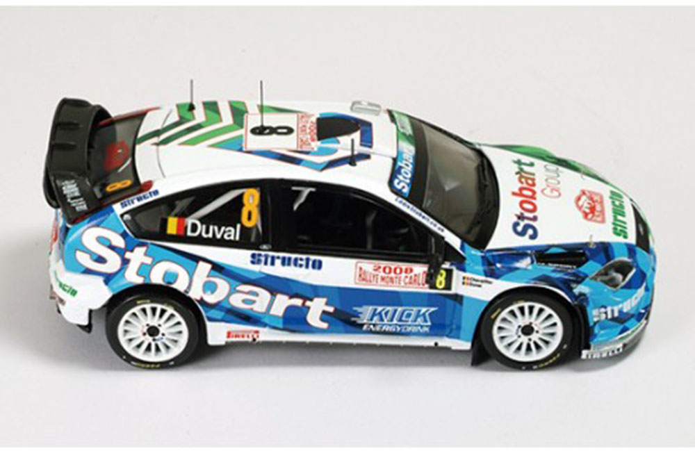Ford Focus RS 07 WRC №8 F. Duval E. Chevailler 4th Rally Monte Carlo 2008